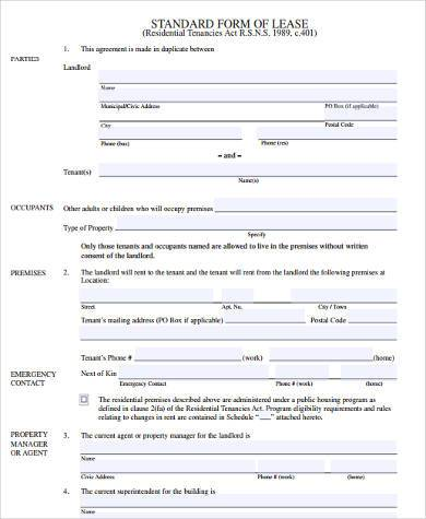 rental lease agreement form pdf1