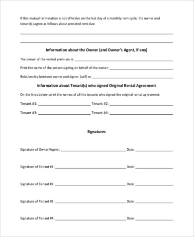 Sample Lease Termination Agreement - 8+ Free Documents in Word, PDF