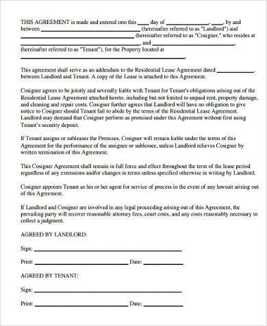 Property Lease Agreement Sample Printable Sample Residential