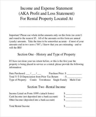 Profit And Loss Statement Sample   Free Documents In Pdf Excel