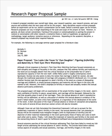 How To Write A Good Essay For High School Research Paper Proposal Example Narrative Essay Thesis Statement Examples also Definition Essay Paper Research Paper Proposal Form   Free Documents In Pdf Business Communication Essay