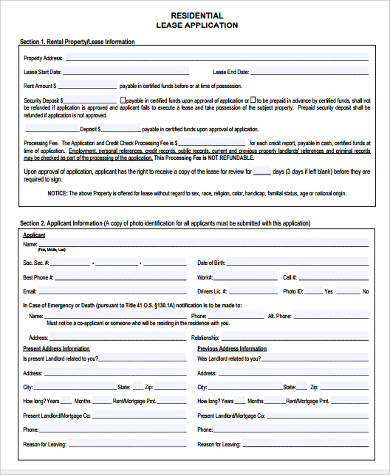 residential lease application form3