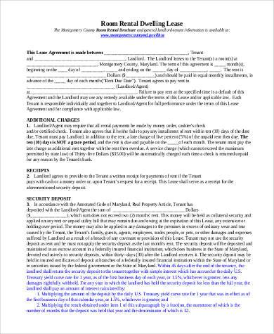 room rental lease agreement form2