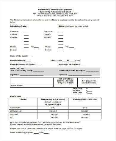 Room Rental Agreement Sample Forms - 9+ Free Documents In Word, Pdf
