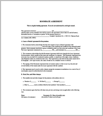 60 Agreement Template Free Word Pdf Documents Download