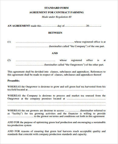 sale contract agreement form