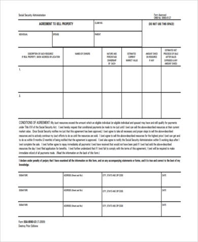 sale of house contract form