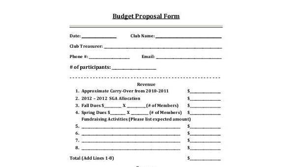 How to make a good budget proposal for grant