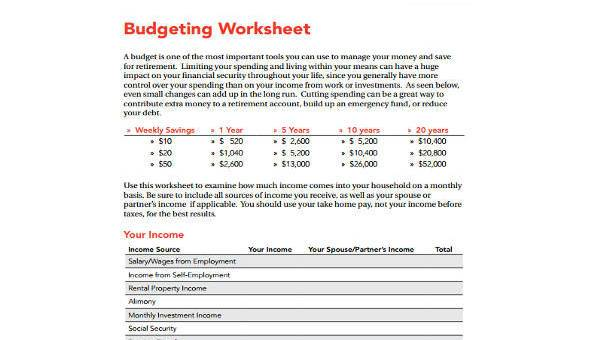 sample business budget forms 7 free documented in pdf doc