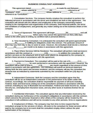 8+ Consulting Sample Agreement Forms - Free Sample, Example