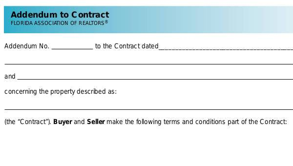 Sample Contract Addendum Forms Free Documents In Word PDF - Free sample contracts