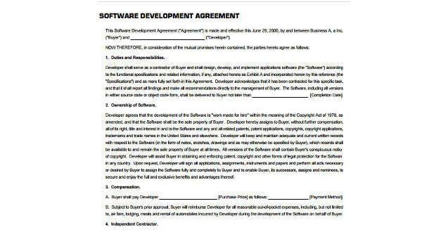 Free 8 Sample Development Agreement Forms In Pdf Word