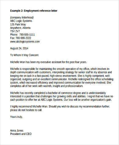 Sample Recommendation Letter From Previous Employer  Example Of Recommendation Letter