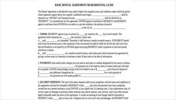 Sample Rental Agreement Formats 9 Free Documents In Word Pdf