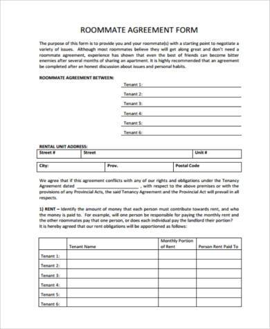 Rental Sample Agreement Forms  Free Documents In Pdf