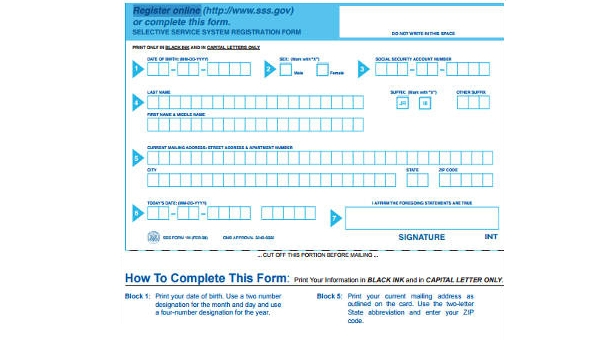 Free 7 Sample Selective Service Registration Forms In Ms Word Pdf
