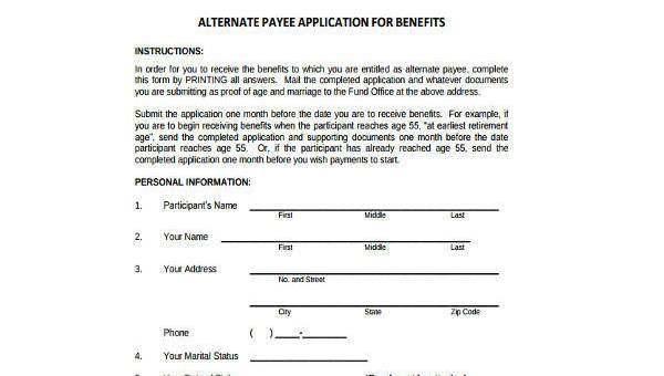 Free 8 Sample Social Security Payee Forms In Pdf Ms Word