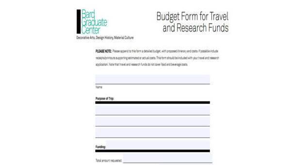 sample travel budget forms 7 free documents in word pdf