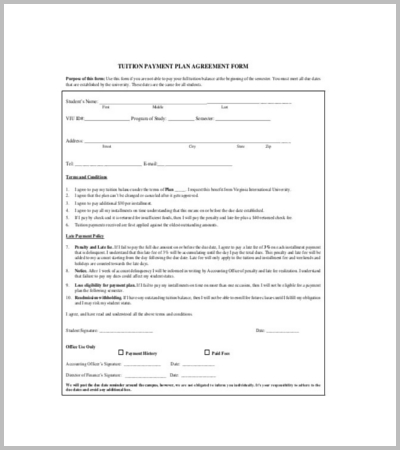 60 Agreement Template Free Word PDF Documents Download – Payment Agreement Template
