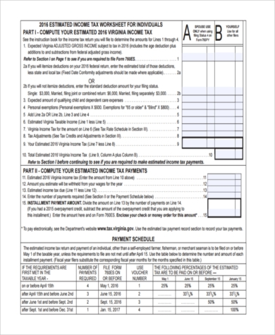 self employment tax payment form