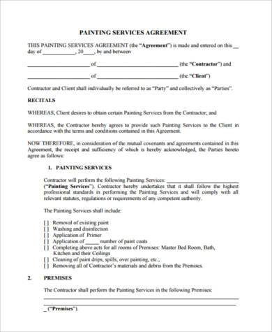 Service Agreement Form Samples   Free Documents In Word Pdf