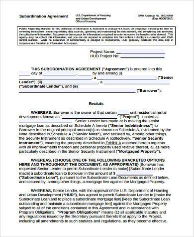 Delightful Shareholder Subordination Agreement Form Pictures Gallery