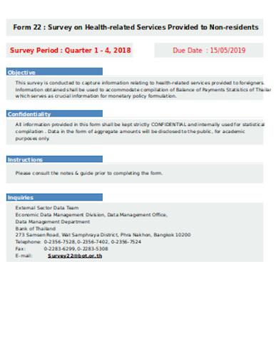 simple health survey form
