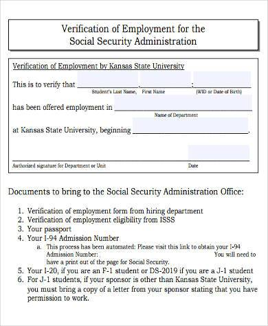 social security administration verification form1