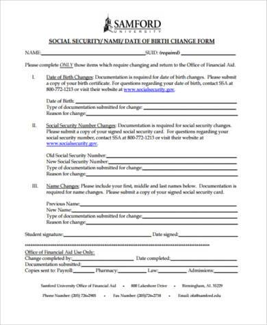 social security card name change form1
