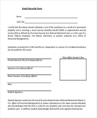 Ssi Disability Application Form PrintableDisabilityPrintable