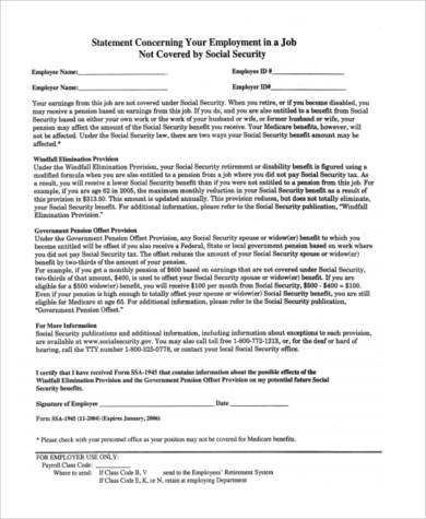 social security tax information form