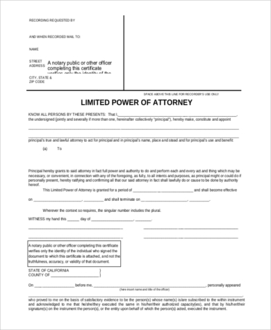 Special Power Of Attorney Form   Free Documents In Word Pdf