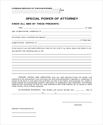 special power of attorney form in word  FREE 16+ Special Power of Attorney Form in WORD | PDF