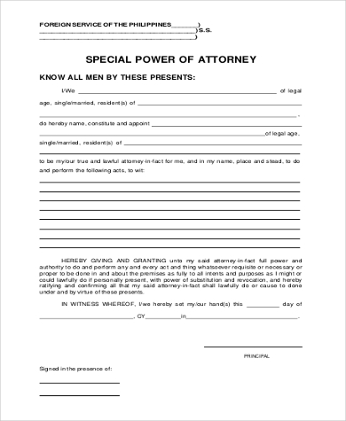 special power of attorney form1