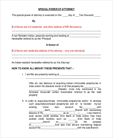 Specific Power of Attorney - 7+ Free Doents in PDF on power of appointment form, acknowledgment form, contract form, easement form,