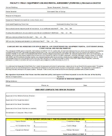 standard facility agreement form