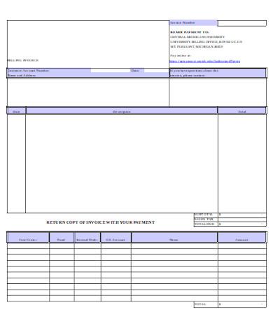 standard invoice form