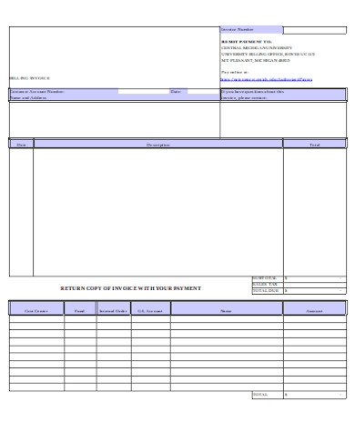 standard invoice form1