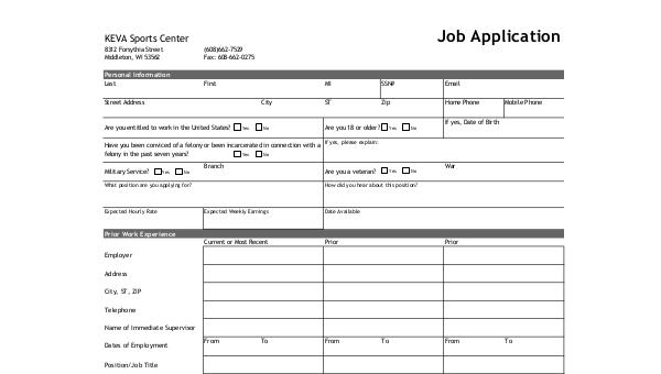 FREE 8+ Standard Job Application Forms in PDF | MS Word Center Job Application Form on job vacancy, agreement form, job search, job advertisement, job payment receipt, employee benefits form, job requirements, job opportunity, cv form, job applications online, job resume, cover letter form, job letter, job openings, contact form, job applications you can print,