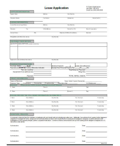 standard lease application