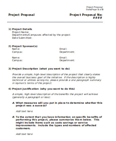 standard project proposal