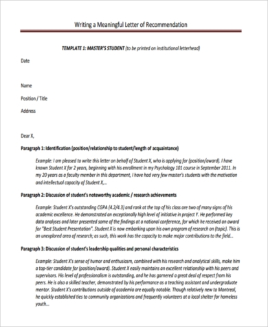 student letter of recommendation for a scholarship