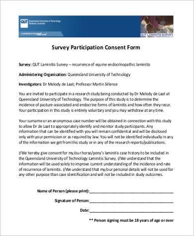survey participation consent form