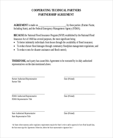 Partnership Contract Templates. Examples Of Partnership Agreements ...