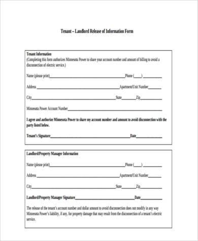 tenant release of information form