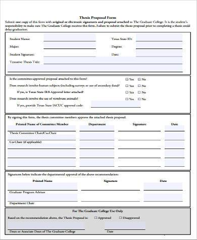 thesis proposal form example