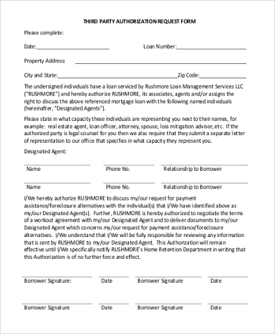 sample third party authorization form