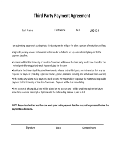 Payment Agreement   Free Documents In Word Pdf