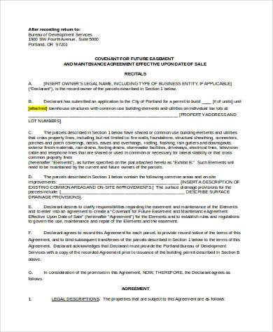 townhouse maintenance agreement form