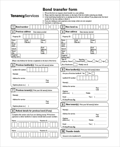 transfer of lease form